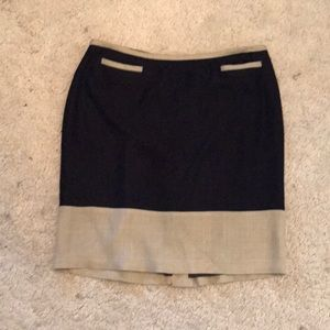 Boden Tan and Blue Skirt size 16